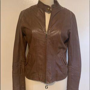 Bagatelle Women's Motorcycle Brown Leather Jacket
